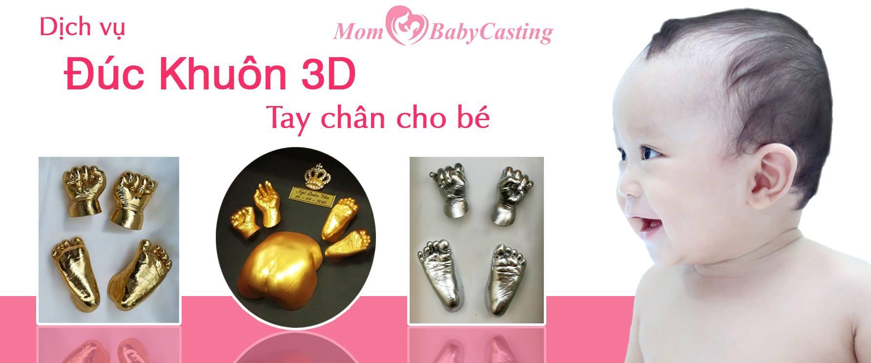 Đúc khuôn tay chân 3D Mom Baby Casting