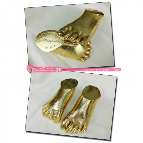 Đúc khuôn tay chân 3D dát vàng 24k - G03