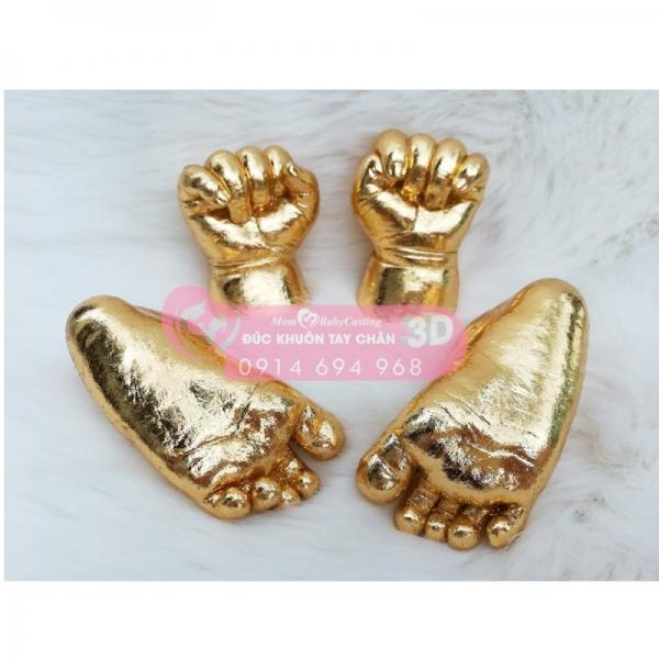 Đúc khuôn tay chân 3D dát vàng 24k - G05